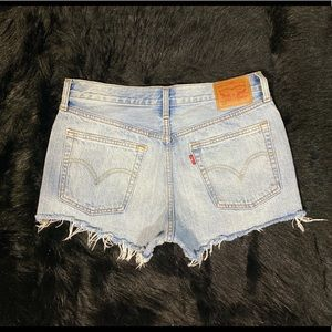 Levis high waisted shorts size 12